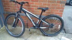 Specialized hardrock mountain bike. 14 inch aluminium frame, 26 inch wheel, disc brakes, 24 gears