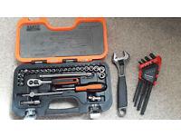 Bahco 5290 29 pcs. 1/4'' socket set & Adjustable spanner 27mm 9071 & FACOM Allen key set - BARGAIN