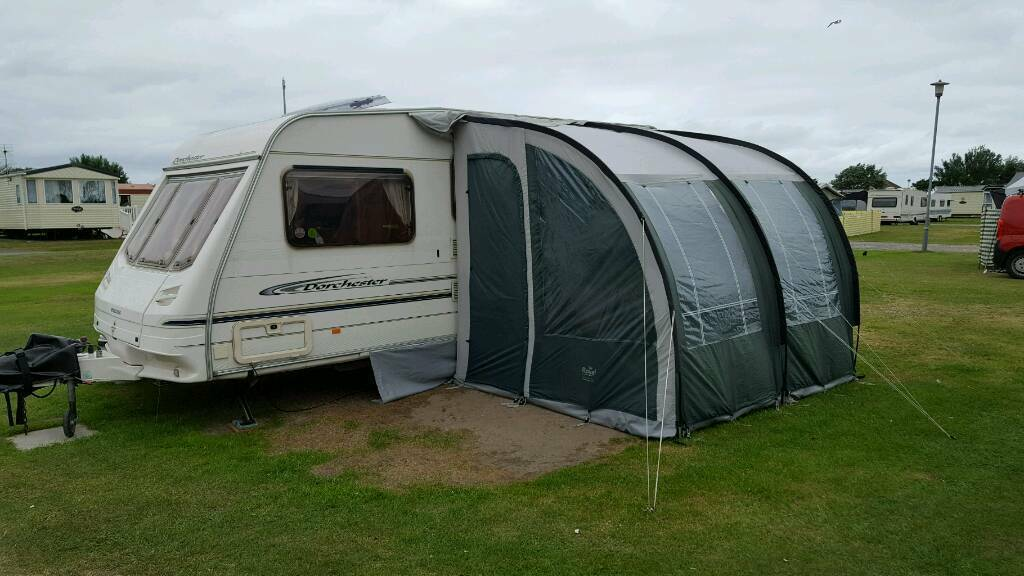 Sterling Dorchester 500 5 Berth Caravan With Royal Windsor 260 Porch Awning