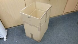 10 double wall cardboard boxes 15 ins long x 16 ins wide x 12 ins deep. perfect for packing kitchen