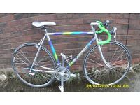 FRENCH CYCLES 2000 RACING BIKE VERY LIGHT 21in/54cm COLUMBUS FRAME/FORKS VERY CLEAN JUST SERVICED
