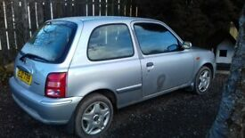 Nissan Micra k11 two one blue one silver cheap for quick sale