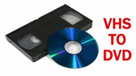 VHS AND CAMERA TAPES TRANSFERRED TO DVD - FREE COLLECT AND RETURN FROM YOUR HOME