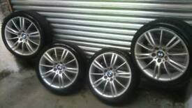 Bmw mv3 alloy wheels complete with excellent tyres