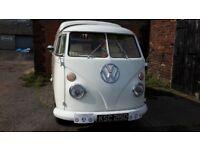 VW splitscreen camper rhd white