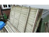 6 fence panels