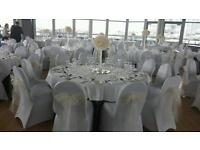 50p hire chair covers black white or ivory