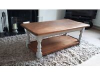 Solid wood large coffee table