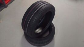 2 x Dunlop Sportmaxx 235 45 18 Y Part Worn with 7mm Tread