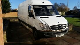 Mercedes sprinter 313cdi, 10 reg MOT till aug 18, needs engine, NON-RUNNER