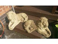 Stone garden lion status