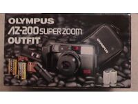 OLYMPUS AZ 200 SUPERZOOM 35MM COMPACT OUTFIT, NEW