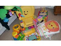 BABY TOY BUNDLE + FISHER PRICE MUSICAL MOBILE & COT BUMPER!