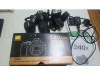 Nikon d40x.and lenses