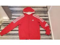 Red and black adidas tracksuit age 10yrs in good condition