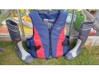 Sola s life jacket + gill wellies