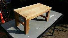 Handmade waxed recycled oak occasional table/footstool