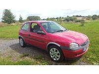 VAUXHALL CORSA 1998 RED. MOT DEC 17. DRIVES WELL