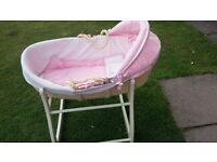 moses basket and rocking stand new with tags £25.00