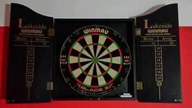 Winmau Dart Board with cabinet