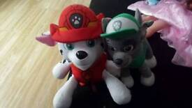Paw patrol teddy backpack and rocky