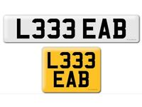 L333 EAB private cherished personalised personal registration plate number