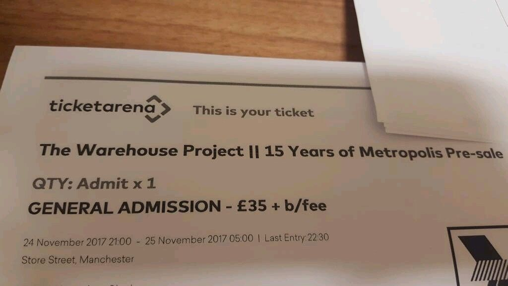 Warehouse Project 24th November - Metropolis - Chase & Status