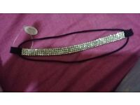 Silver diamond hair piece