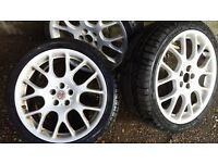 MG WHEEL ALLOYS WITH NEW TYRES 225/40/18