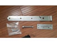 """Gate Shed Hook and Band Heavy Duty Galvanised Hinge 18"""""""