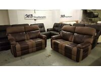 NEW ScS RALPH BROWN 2 SEATER ELECTRIC with USB ports & 2 SEATER MANUAL RECLINER SOFAS *CAN DELIVER*