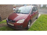 Ford focus c max ZETEC 2005 1.6 petrol mpv 12 months mot, 82k miles