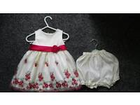 Baby girl dress 9-12 months ceny good condition