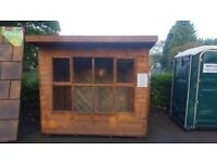 8ft x 6ft Solar Pent Garden Summerhouse Shed £430 Inc Delivery & Installation Ex Display Model