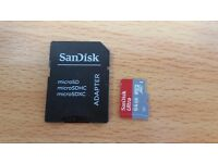 SanDisk 64GB Ultra Micro SDHC UHS1 with Adaptor
