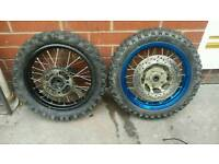 Pitbike wheels Front and back