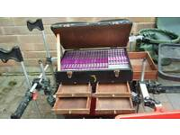 Browning match fishing seat box with accessories