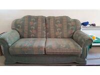 2x Green sofas