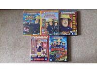 5 Fireman Sam DVDs