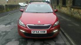2014 PEUGEOT 308 SW 1.6 HDI ACTIVE RED ESTATE DAMAGED REPAIRABLE SALVAGE CAT D