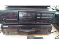 Stereo separates tape and CD player