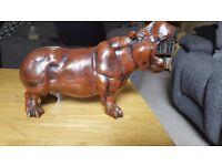 Large heavy hippo ornament