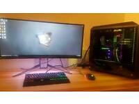 Custom gaming pc big build gtx 1080