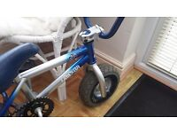 Mini BMX Rocker bike,only 2 months old,brilliant condition.Blue and Chrome