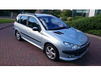 2002 Peugeot 206 SW 2.0 HDi D-Turbo 5dr, Low Mileage, Lovely car, Great oppotunity.