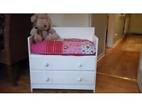 Solid pine drawers with seat, suitable for a child