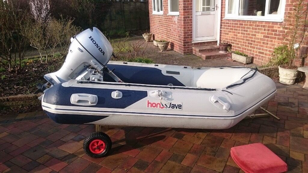 Honwave 2 7 inflatable boat with honda 8 hp engine is 6 for Small boat motor repair