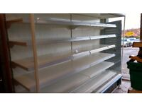 Large open display fridge fully integrated and serviced