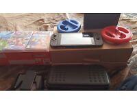 Nintendo Switch (Grey) Mint Condition 2 Weeks Old. Zelda bundle. Last Day