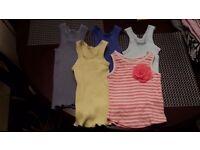 Bundle of baby girl vests 3-6 months